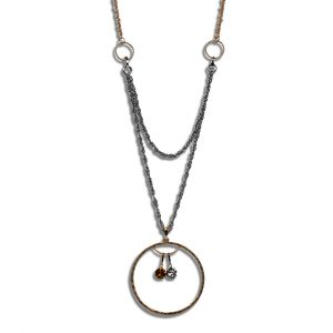 Silver Beads with Circle Pendant and Birthday Bling
