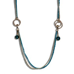 Layered Turquoise and Silver Beads